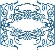 Plantilla céltica del marco del estilo del ornamento Fotos de archivo