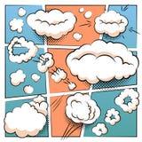 Plantilla cómica de la página libre illustration