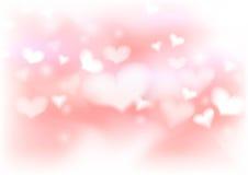Plantilla caliente abstracta del fondo de la tarjeta del día de San Valentín Foto de archivo