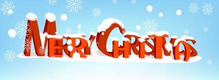 Plantilla caligráfica de la tarjeta del diseño de letras del texto del vector de la Feliz Navidad libre illustration