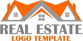 Plantilla casera de las propiedades inmobiliarias y del logotipo Imagen de archivo libre de regalías