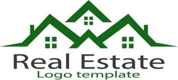 Plantilla casera de las propiedades inmobiliarias y del logotipo imágenes de archivo libres de regalías