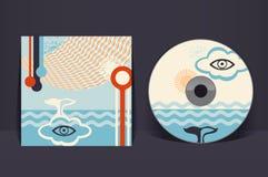 Plantilla CD del diseño de la cubierta Imagen de archivo libre de regalías