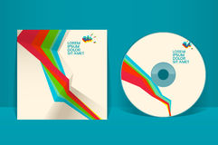 Plantilla CD del diseño de la cubierta Foto de archivo libre de regalías