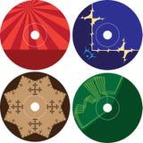 Plantilla cd del diseño de la etiqueta del DVD Imagen de archivo libre de regalías
