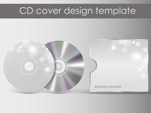 Plantilla cd del diseño de la presentación de la cubierta Fotos de archivo