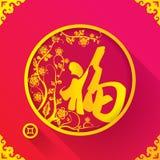 Plantilla china del diseño de la suerte del Año Nuevo