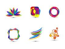 Plantilla colorida abstracta del icono del negocio Foto de archivo libre de regalías