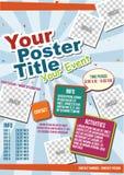 Plantilla colorida animada del cartel del vector stock de ilustración