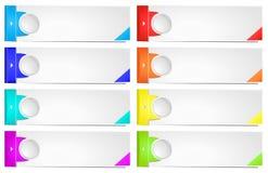 Plantilla colorida de la bandera de las opciones. libre illustration