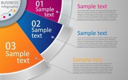 Plantilla colorida de la disposición del infographics o del sitio web Imágenes de archivo libres de regalías