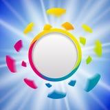 Plantilla colorida del diseño de la explosión Imagenes de archivo