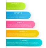 Plantilla colorida del diseño del infographics moderno con la sombra Foto de archivo libre de regalías