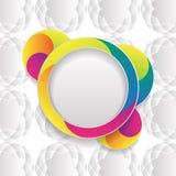 Plantilla colorida del diseño del vector Fotografía de archivo