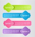 Plantilla colorida infographic moderna del diseño Fotos de archivo