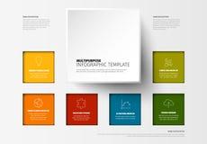 Plantilla colorida minimalista de Infographic del vector stock de ilustración