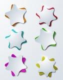 Plantilla colorida moderna del diseño de las estrellas del vector Fotos de archivo libres de regalías