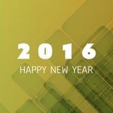 Plantilla colorida simple del diseño de la tarjeta, de la cubierta o del fondo del Año Nuevo - 2016 Fotografía de archivo