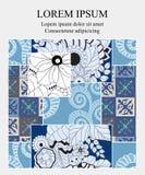 Plantilla común para el folleto, tarjeta, cubierta, libro con el remiendo Foto de archivo