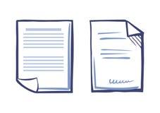 Plantilla comercial de la documentación, dispositivo de la web ilustración del vector