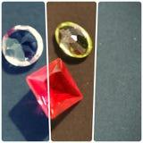 Plantilla con las piedras preciosas en la oscuridad, colorized Fotografía de archivo libre de regalías