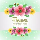 Plantilla con tema de la flor ilustración del vector