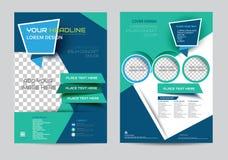 Plantilla corporativa de la disposición de diseño del aviador del folleto de tamaño A4 ilustración del vector