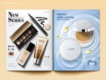 Plantilla cosmética de la revista libre illustration