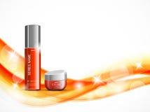 Plantilla cosmética del diseño de la crema hidratante de la piel ilustración del vector