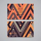 Plantilla creativa abstracta de la disposición de diseño de la tarjeta de visita con el modelo geométrico Fondos modernos Fotos de archivo