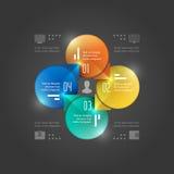 Plantilla creativa de Infographics del vector. Diagrama de los círculos. Diseño del ejemplo del concepto del vector EPS10
