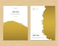 Plantilla creativa de la tarjeta Imágenes de archivo libres de regalías