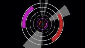 Plantilla creativa del diseño de la cantidad del extracto del círculo El ordenador de la rotación circunda el interfaz y el crist