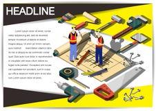 Plantilla creativa del diseño del papel del vector del folleto del aviador de la plantilla de la construcción Fotografía de archivo libre de regalías
