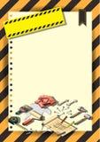 Plantilla creativa del diseño del papel del vector del folleto del aviador de la plantilla de la construcción Foto de archivo libre de regalías