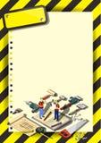 Plantilla creativa del diseño del papel del vector del folleto del aviador de la plantilla de la construcción Imagenes de archivo