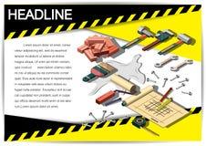 Plantilla creativa del diseño del papel del vector del folleto del aviador de la plantilla de la construcción Foto de archivo