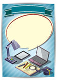 Plantilla creativa del diseño del papel del vector del folleto del aviador de la plantilla de la educación Imagenes de archivo
