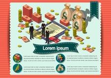 Plantilla creativa del diseño del papel del vector del folleto del aviador de la plantilla del dinero Fotografía de archivo