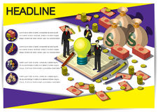 Plantilla creativa del diseño del papel del vector del folleto del aviador de la plantilla del dinero Foto de archivo