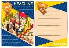 Plantilla creativa del diseño del papel del vector del folleto del aviador de la plantilla del dinero Fotos de archivo