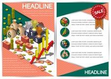 Plantilla creativa del diseño del papel del vector del folleto del aviador de la plantilla del dinero Imagen de archivo libre de regalías