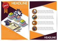 Plantilla creativa del diseño del papel del vector del folleto del aviador de la plantilla del informe para el infographics y las Fotografía de archivo libre de regalías