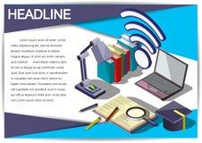 Plantilla creativa del diseño del papel del vector del folleto del aviador de la plantilla del informe para el infographics y las Fotografía de archivo