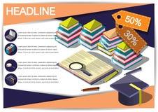 Plantilla creativa del diseño del papel del vector del folleto del aviador de la plantilla del informe para el infographics y las Foto de archivo libre de regalías
