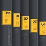 Plantilla creativa del diseño. St del negocio de Infographics Foto de archivo