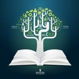 Plantilla creativa del estilo del corte del papel del diagrama del libro Foto de archivo libre de regalías