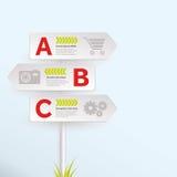 Plantilla creativa - muestra de la manera para el infographics y los informes stock de ilustración