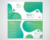 Plantilla cuadrada del diseño del folleto del doblez del BI libre illustration