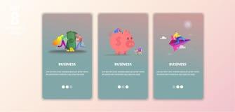 Plantilla de aterrizaje de la página del negocio libre illustration